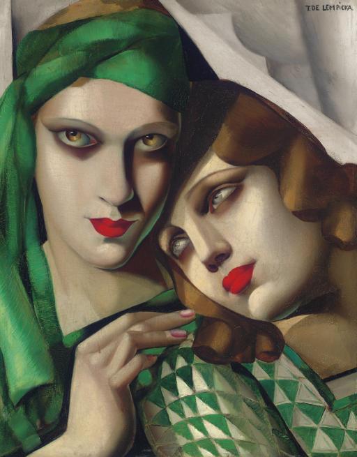 TAMARA DE LEMPICKA (1898-1980) LE TURBAN VERT