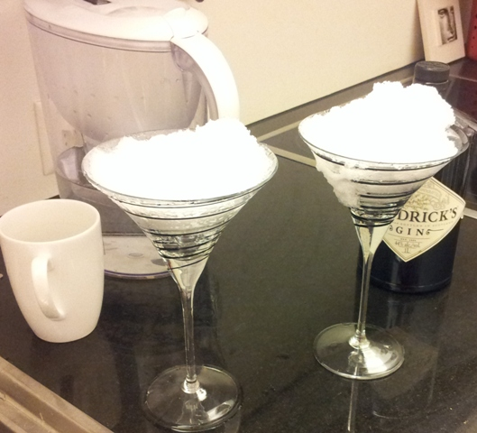 Snow Martini, tea or water
