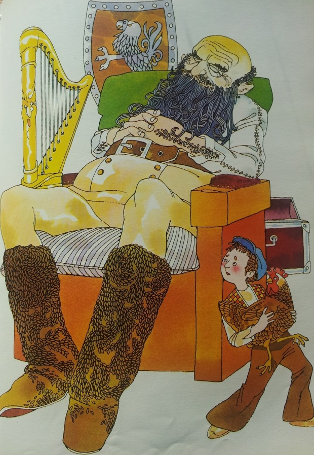 Jack and the Beanstalk illustration by Tony Oliver from Best Ever Treasury of Fairy Tales (Currey O'Neil, 1980)