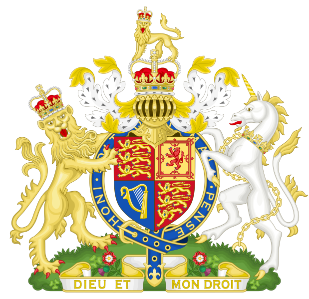 Royal Coat of Arms of the United Kingdom / wikicommons