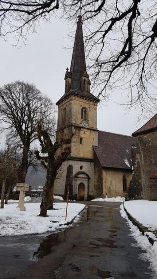 Motiers church